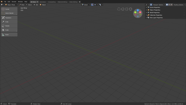 Blender 28 - 3D View Workspace