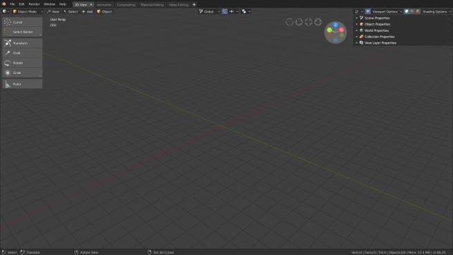 Blender 28 - 3D View Workspace